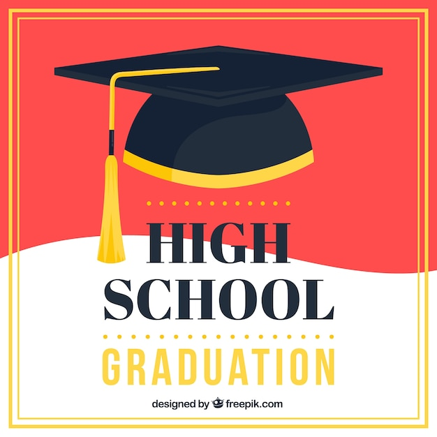 Abstract graduation cap background - 85.5KB