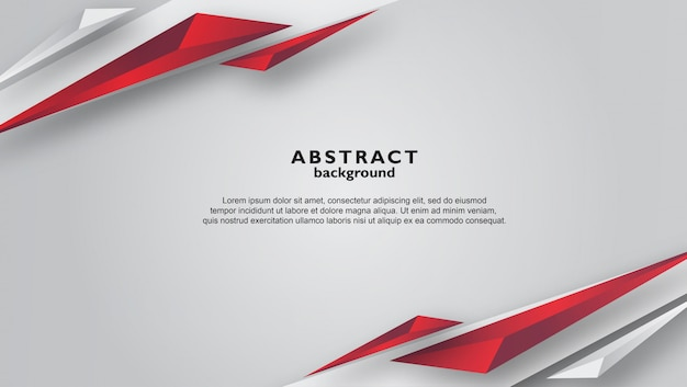 Abstract gray background with red triangle shapes Premium Vector