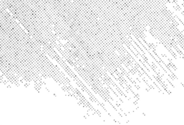 抽象的な灰色の点線パターンの背景 無料ベクター