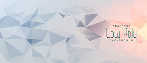 Abstract gray geometric low poly banner design Free Vector