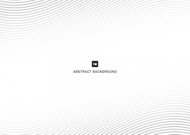 Abstract gray lines curve white background. Premium Vector