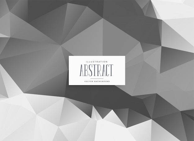 Abstract gray low poly triangle background Free Vector