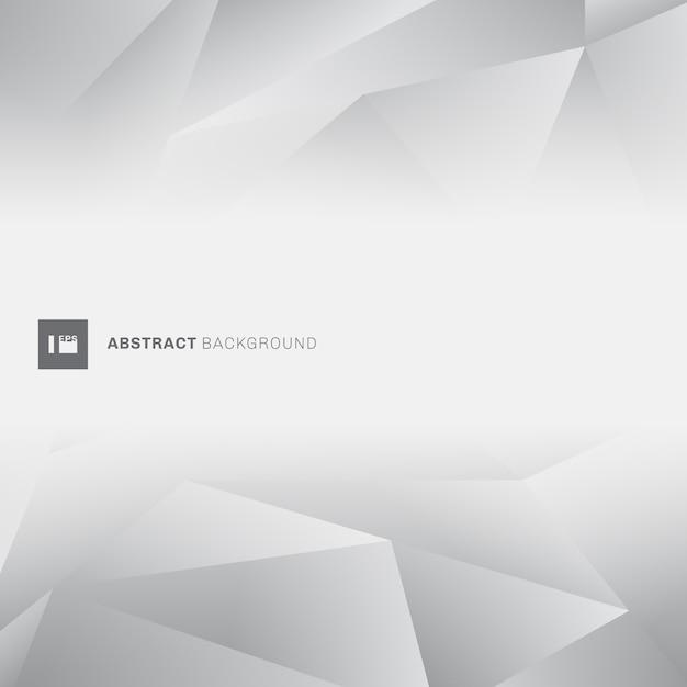 Abstract gray low polygon Premium Vector