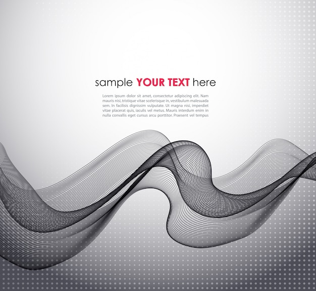 Abstract gray wave template Premium Vector