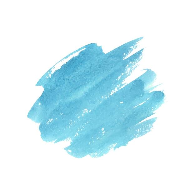 흰색 바탕에 추상 녹색과 파란색 수채화입니다. 프리미엄 벡터
