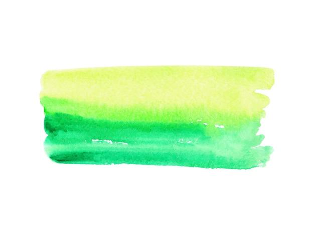 흰색 바탕에 추상 녹색과 노란색 수채화입니다. 프리미엄 벡터