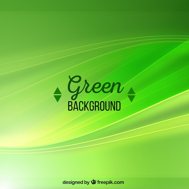 abstract green background with waves vector free download