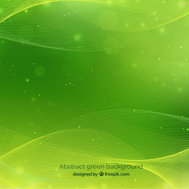 Abstract green background Free Vector