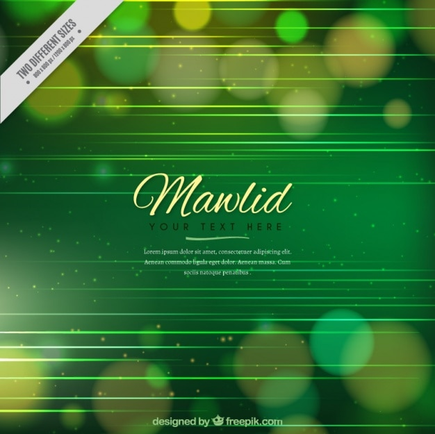 Abstract green bokeh background by mawlid Free Vector