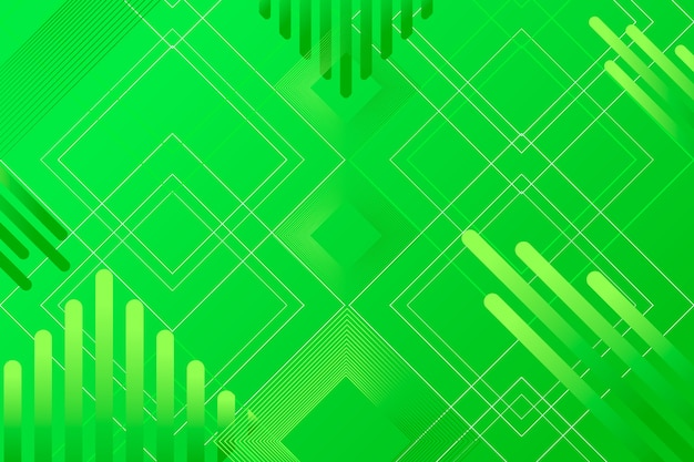 Abstract green geometric background Free Vector