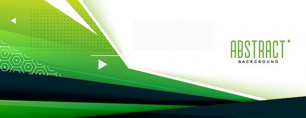 Bandiera memphic geometrica verde astratta Vettore gratuito