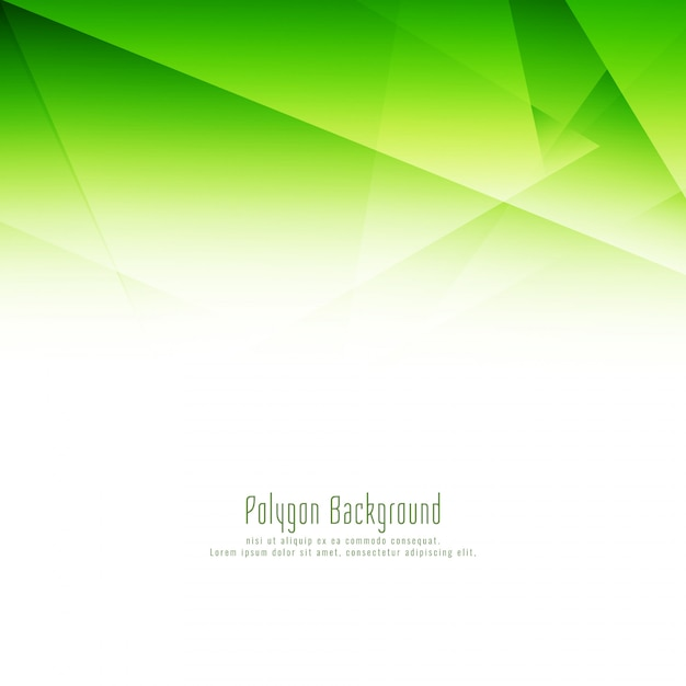 Abstract green polygon design background Free Vector