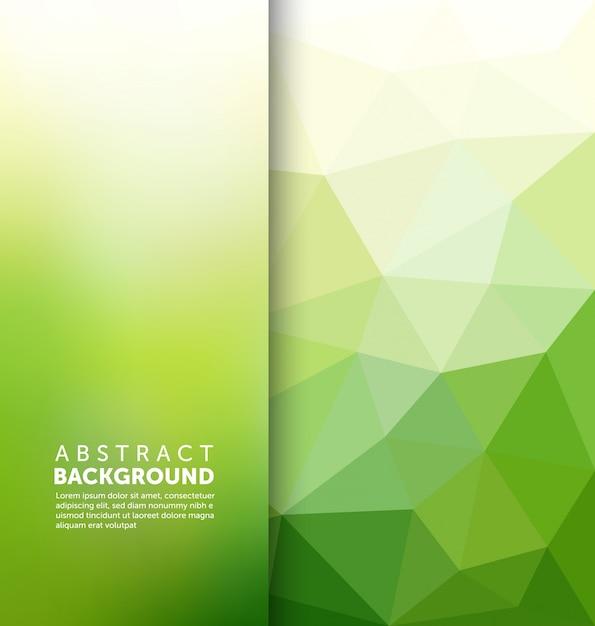 추상 녹색 다각형 배경 무료 벡터