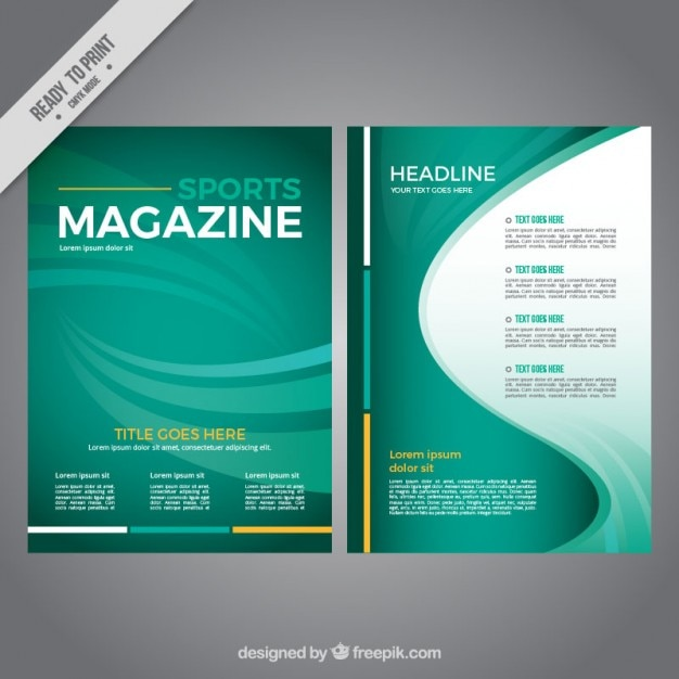 abstract green sport magazine vector | premium download, Powerpoint templates