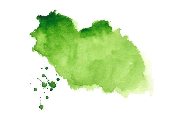 抽象的な緑の水彩スプラッタ汚れテクスチャ背景デザイン 無料ベクター