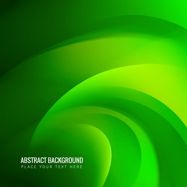 Abstract green wave background Vector | Free Download