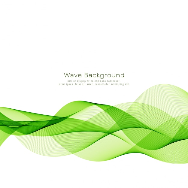Abstract green wave business background Free Vector