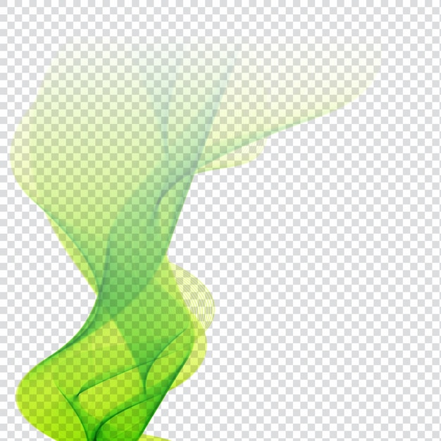 Abstract green wave design Vector | Free Download