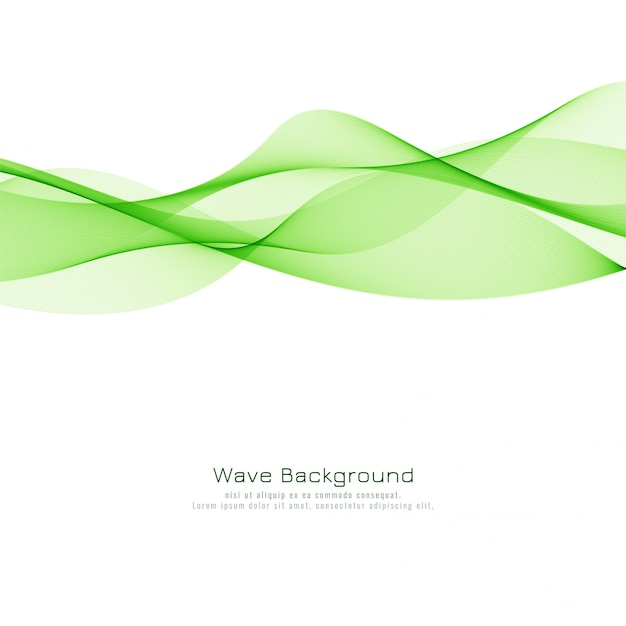 Abstract green wave elegant background Free Vector