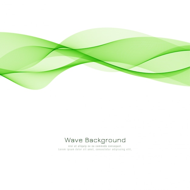 Abstract Green Wave Modern Background Vector Free Download