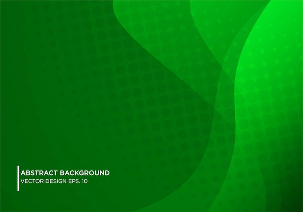 Abstract gren background design with modern shape concpet Premium Vector