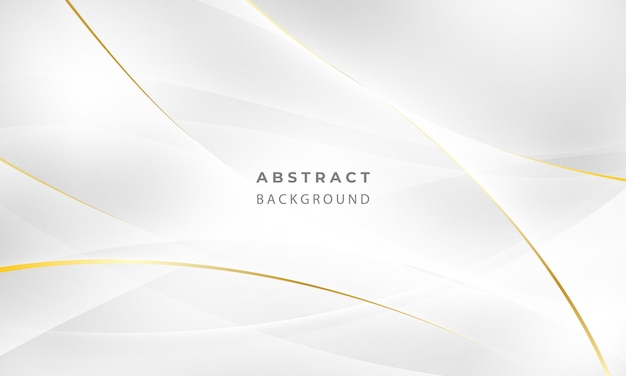 Abstract grey and gold background poster with dynamic waves. technology network   illustration. Premium Vector