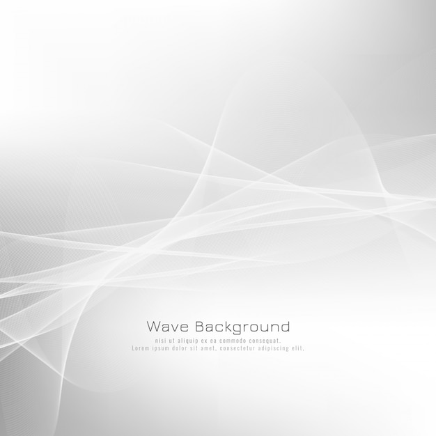 Abstract grey wave background design Free Vector