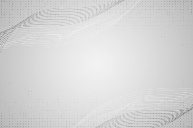 Abstract grey white waves and lines background Premium Vector