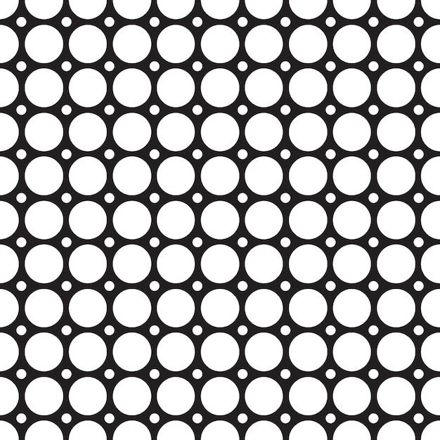 최소한의 모자이크 스타일 그림에 연결된 반복되는 기하학적 구조와 추상 그리드 원활한 패턴 무료 벡터
