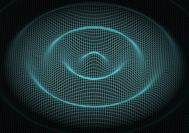 Abstract grid technology background Free Vector