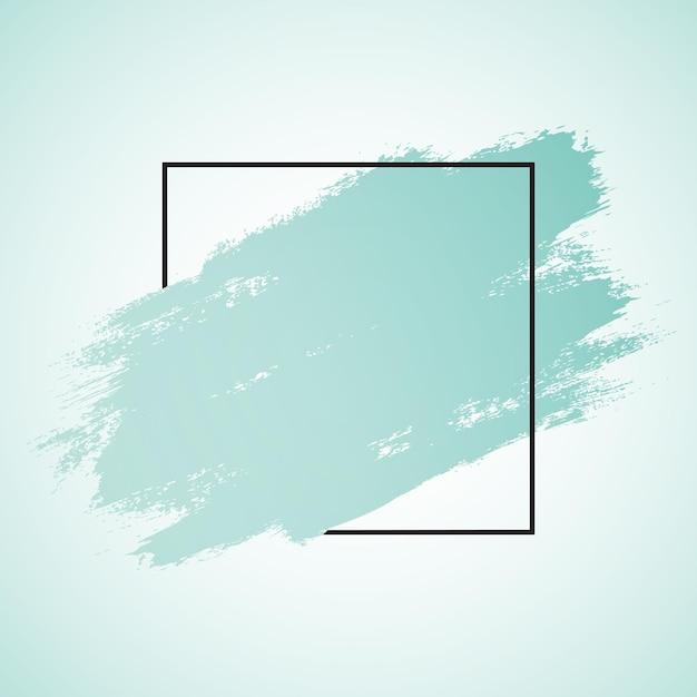Абстрактный мазок кисти гранж и черная рамка Бесплатные векторы