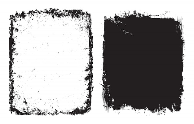 Abstract grunge frames or background set Premium Vector