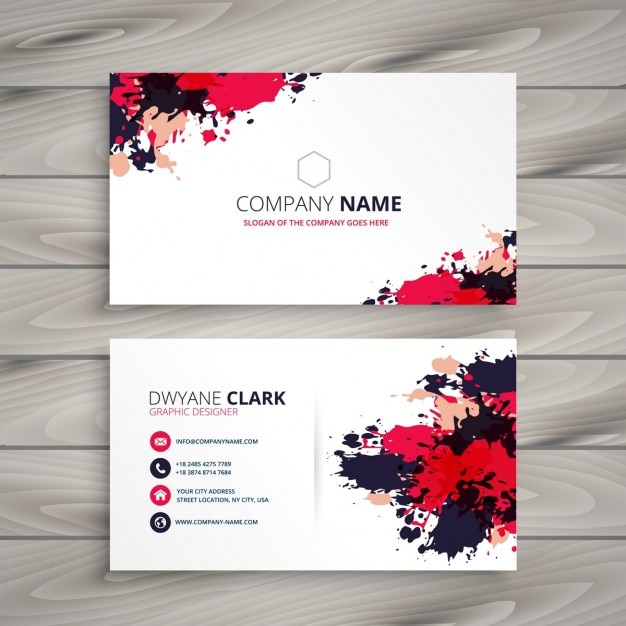 Abstract grunge ink splash business card