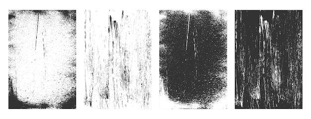 抽象的なグランジレトロなテクスチャフレームコレクションの背景 無料ベクター
