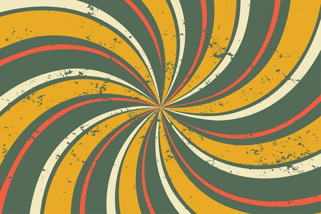 Abstract grunge retro twirl spiral line pattern Free Vector