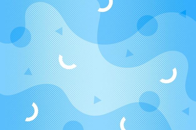 抽象的なハーフトーン背景青い液体効果 Premiumベクター
