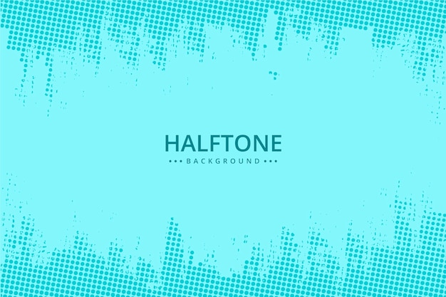 Abstract halftone background light blue tones Free Vector