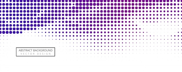 Abstract halftone banner design Free Vector