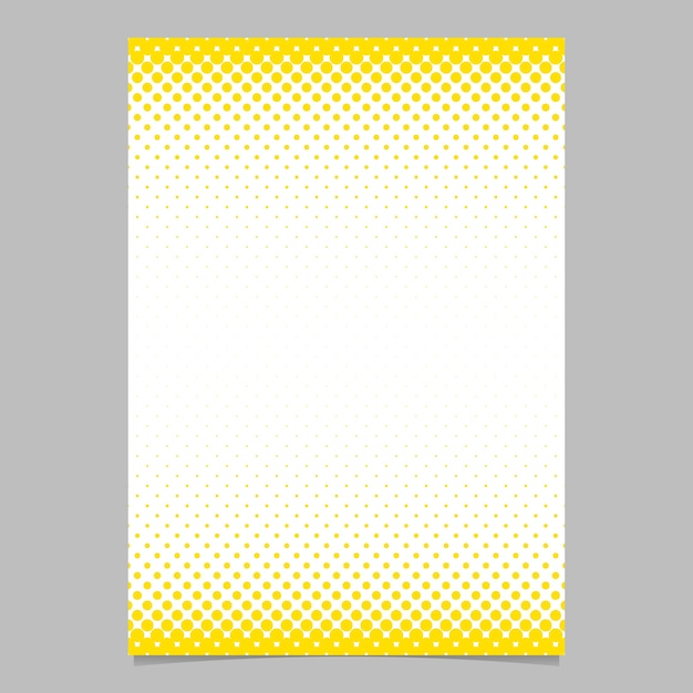 Abstract halftone circle pattern page brochure template for Background brochure templates