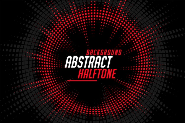 Abstract halftone circular lines red black pattern background Free Vector