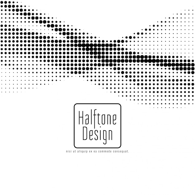 Abstract halftone design background Free Vector