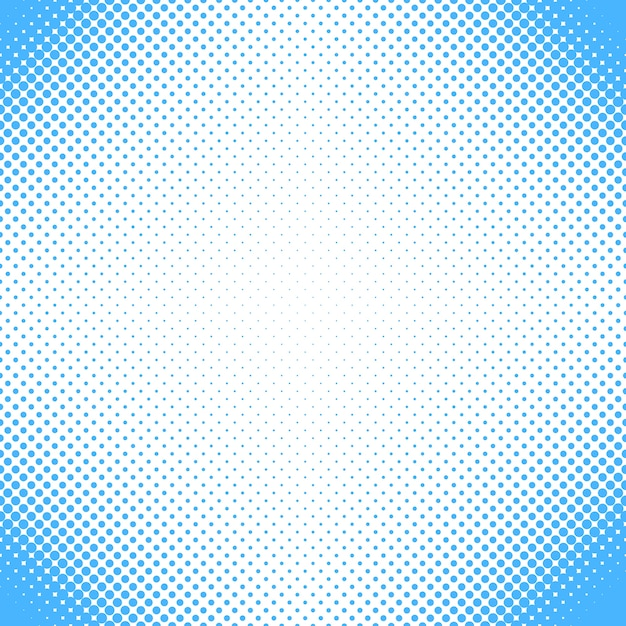 Abstract halftone dot pattern background - vector design from circles in varying sizes Free Vector