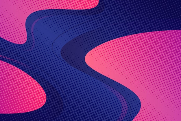 Abstract halftone effect background Free Vector