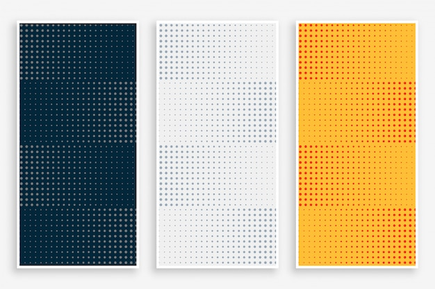 Abstract halftone empty banners set Free Vector