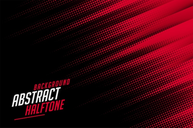 Abstract halftone lines in red and black color Free Vector