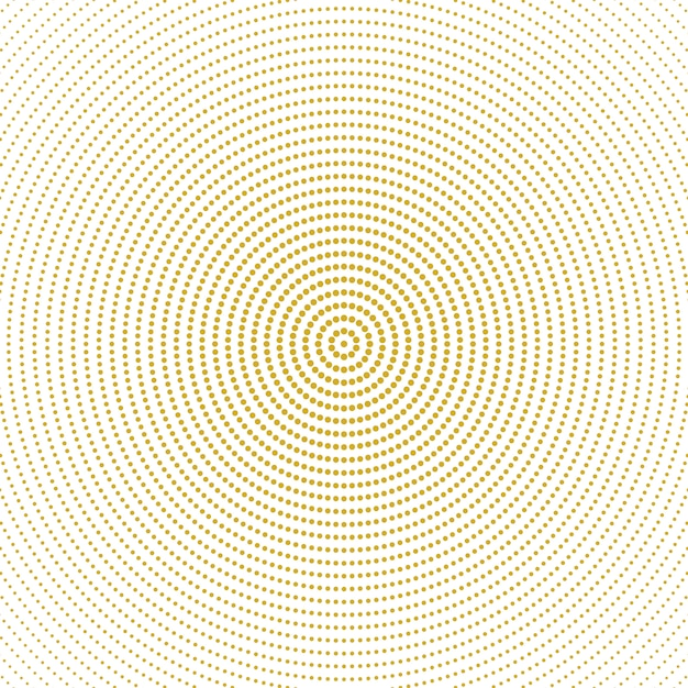Abstract halftone monochrome round circle pattern background Premium Vector
