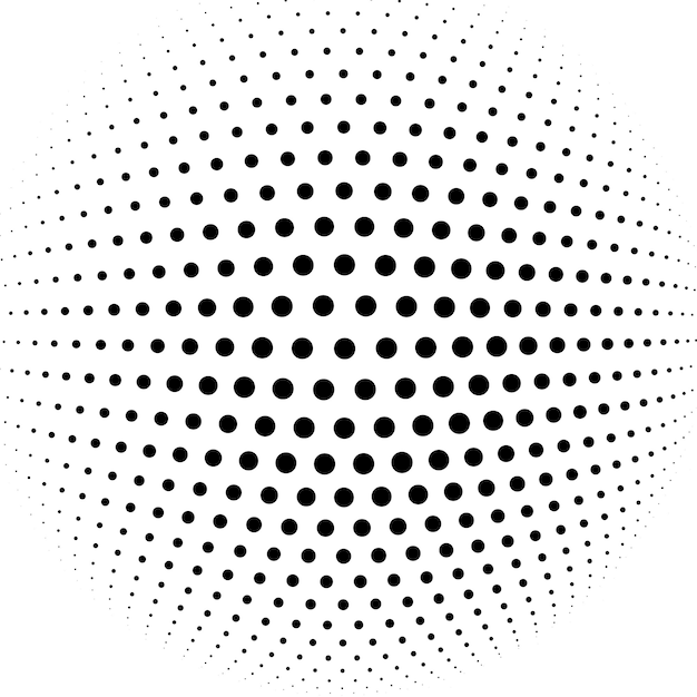 Abstract halftone sphere vector background Free Vector