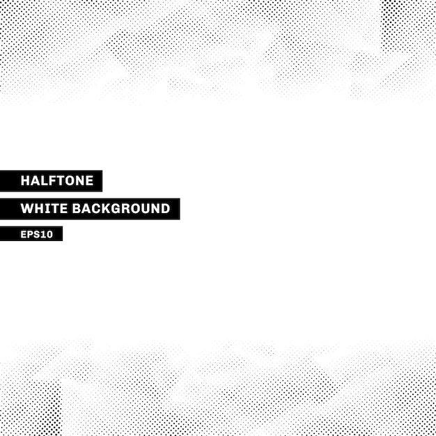 Abstract halftone template low poly white background Premium Vector