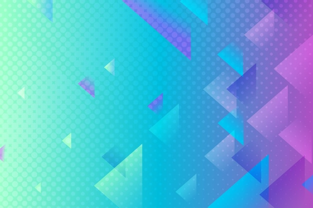 Abstract halftone wallpaper concept Premium Vector