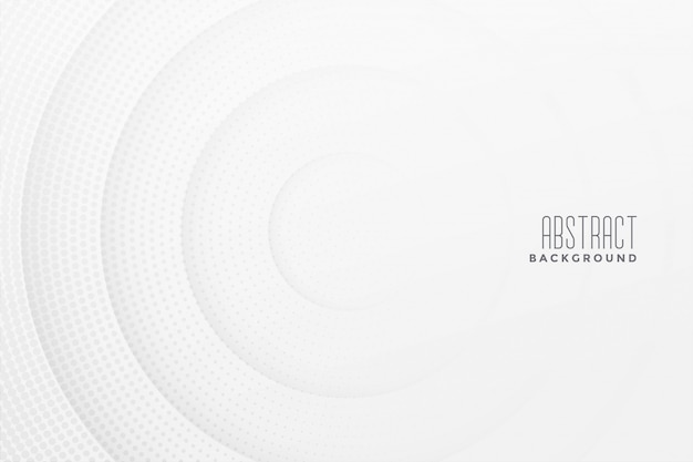 Abstract halftone white background design Free Vector